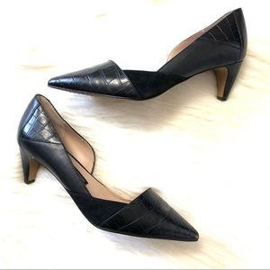 French connection konelli pointed toe black pump